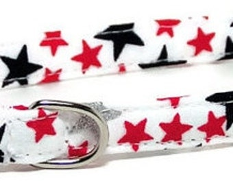 XS Dog Collar - Stars - Extra Small, Teacup, Miniature - Fancy, Soft and Handmade