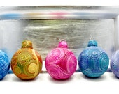 Coiled Clay Filigree Christmas Ornaments