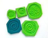 "Polymer Clay Molds - Handmade - Suitable for Various Projects As Well As The ""Cosmic Ceramic"" Faux Ceramic Tutorial"