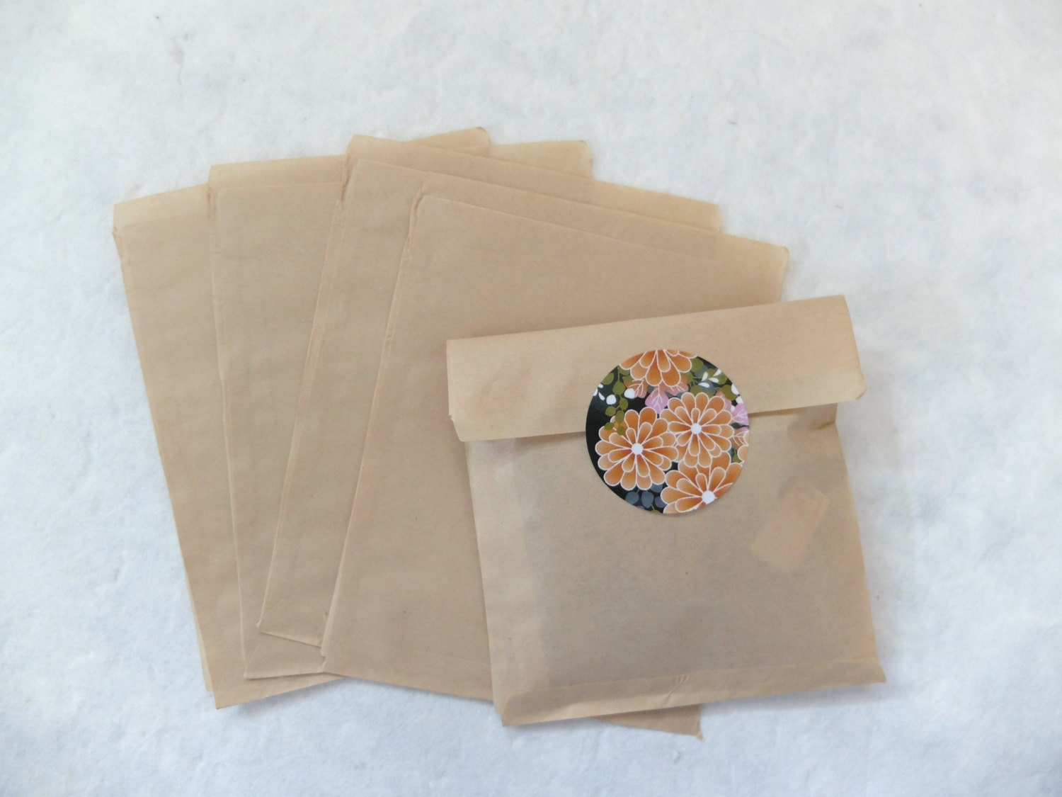 25 small craft brown flat paper bags by eastmeetswest on etsy for Brown paper craft bags