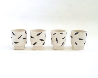 Donna Polseno Modernist Porcelain Cup Set