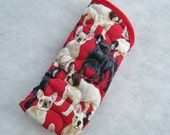Quilted Eyeglass/Sunglass case - Frenchies french bulldog