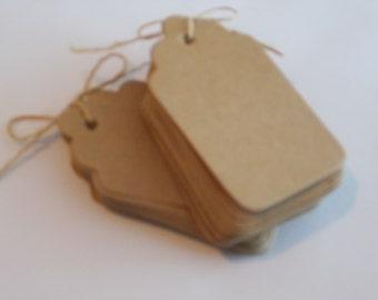 Kraft tags, SALE, rustic wedding tags, kraft gift tags, brown paper tags, wedding favor tags, brown gift tags