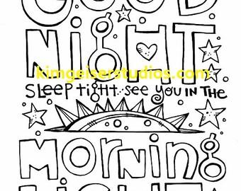Good Night Digital Download