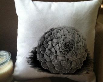 succulent throw pillow cover, custom throw pillow, decorative throw pillow