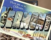Vintage Large Letter Postcard Save the Date (Vermont) - Design Fee