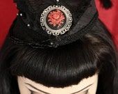 CLEARANCE Vampire Rose Gothic/Neo Victorian hat