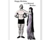 I Love My Brother - Birthday Card