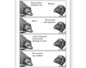 A Happy Hedgehog Birthday Card - Humor - Guinea Pig - Funny