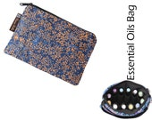 Essential Oils Take Along Bag by Borsa Bella - Waterproof lining fabric - Stellar Blue Batik Fabric
