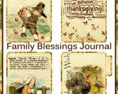 Family Blessings Thanksgiving Journal/ Mini Book INSTANT DOWNLOAD Harvest Digital Printable