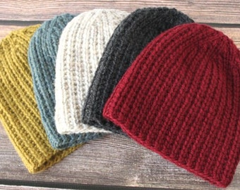 Knit Mens Hat, THE WINCHESTER, Thick Knit Chunky Mens Hat, Mens Beanie, Slouchy Beanie, Knit Chunky Hat, Mens Knit Beanie, Mens Winter Hat