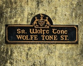 WOLFE TONE, Irish Street Sign, CLONMEL, Co. Tipperary, Irish Rebel,Pub Decor,Ireland Photography, Ireland Street Sign,Irish Language,Gaelic