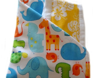 Newborn Gift Set - ABC Sunshine Aloha Receiving Blanket/Burp Cloths