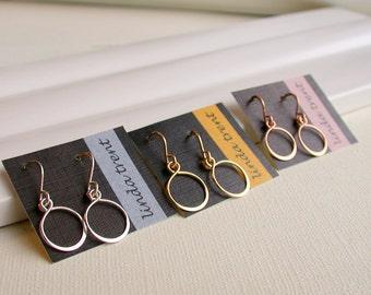 Special! 1 each sterling, gold fill, rose gold fill. Petite Hoop Earrings. Small Hoop Earrings. Dainty Hoops.