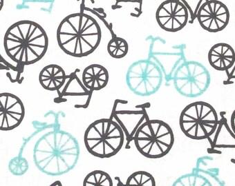Michael Miller BICYCLES Haze cotton fabric 1/2 yard