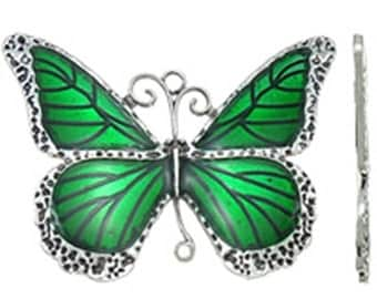 1pc antique silver with Enamel Butterfly Pendant-B65