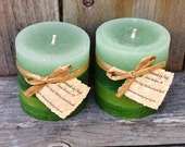 Pair of West Coast Willow Scented Small Cylinder Candles