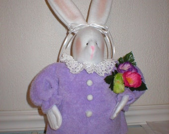 "Sewing E-Pattern for Fabric ""Bertha"" Bunny Easter or Spring"