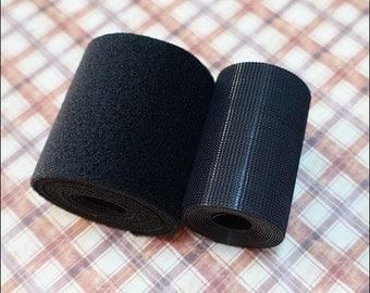 15 mm Velcro Super Thin For Blythe/Dal/Pullip Dress Project Black ( 1 yard or 90 cm )