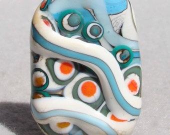 KACHINA Handmade Lampwork Art Glass Focal Bead - Flaming Fools Lampwork Art Glass  sra