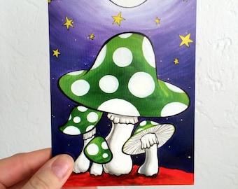 Mushrooms - Blank Card