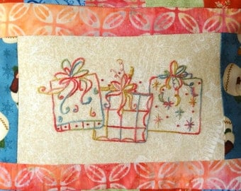 Christmas Gifts Hand Embroidery PDF Pattern Instant Digital Download