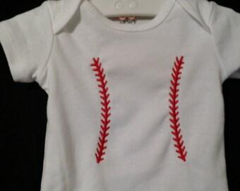 Baseball Stitched Onesie