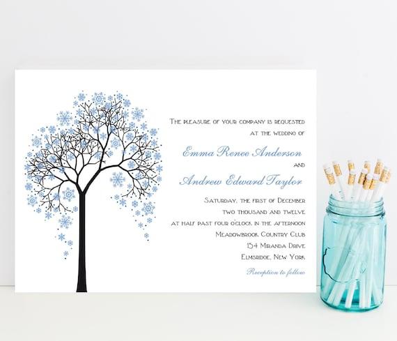 Winter Wedding Invitation Theme Invitations