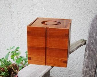 Vintage Mid Century Modern Kalmar Teak Wood Ice Bucket