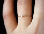 Tiny Ultra Thin Closed Knot ring Sterling Silver, delicate silver ring, knot ring, silver knot ring, tiny knot ring, delicate knot ring