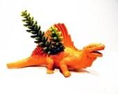 Dinosaur Planter Orange for Succulent Plants for Small Cacti