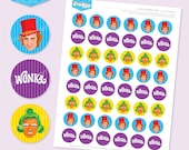 Instant Download - WONKA Inspired 1 Inch Party Dots - DIY Printable