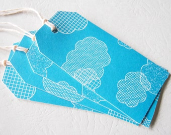 Large Blue Gift Tags Cloud - Fun Modern Touch GiftTags Wrap parcels with love