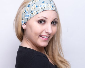 Wide Fabric Headbands for Women, Cute Japanese Floral Design