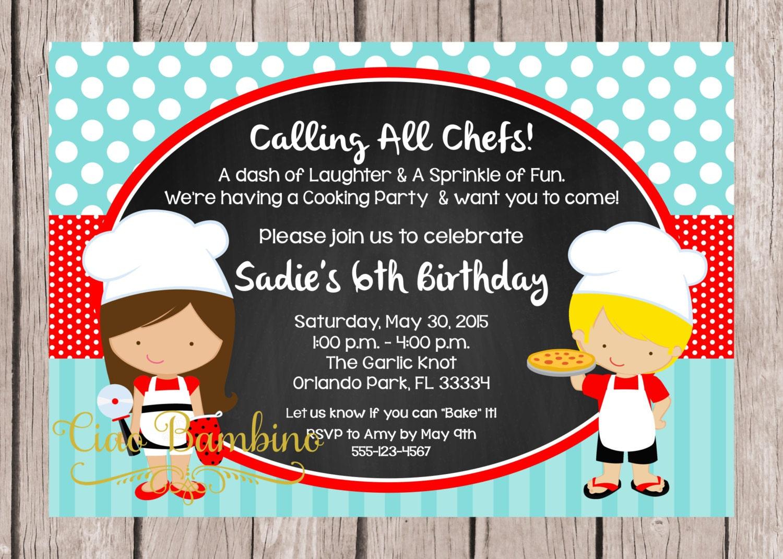 Chef invitation – Pizza Party Invitation Template Free