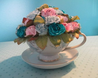 Tea Cup Flower Arrangement