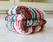 Holly Jolly Cotton Dishcloth