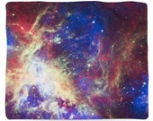 Tarantula Nebula, Galaxy, Outer Space, Fleece Blanket, Printed in USA