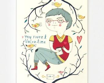 Valentines Boy - Greeting Card