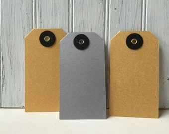 Gold, Silver, Shimmer Tags, Gold, Silver Gift tags, Metallic Paper Tags