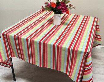 Square Tablecloth, French Tablecloth, Coated Tablecloth