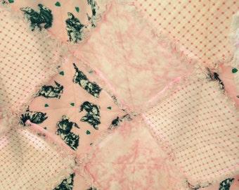 Pink Kitty Rag Quilt