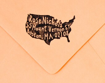 United States Return Address Rubber Stamp Patriotic