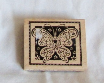 rubber stamp, butterfly, stamping, supplies, F, destash