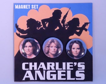 Charlie's Angels classic TV refrigerator magnets