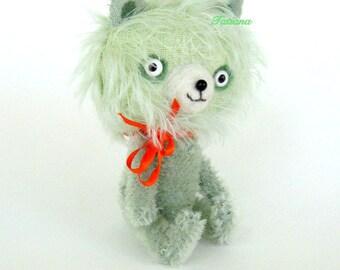 Plush Teddy Bear , Art toy , Soft art doll, 5.5 inches tall