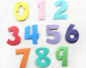 50 Plantable Seed Paper Numbers - Birthday Party Favors - Cupcake Toppers Age - Flower or Herb Seed - Age 0 1 2 3 4 5 6 7 8 9