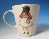 Pug Girl Mug  - Jack Russell Terrier Butterfly on the back