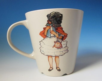 Pug Girl Mug  - Jack Russell Terrier Butterfly on the back